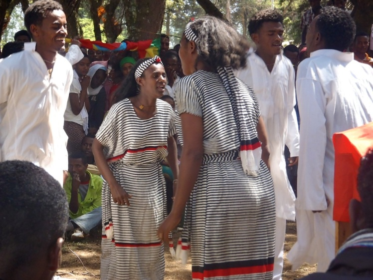 An Oromo cultural dance performed during the celebration of Nations, Nationalities and Peoples Day.