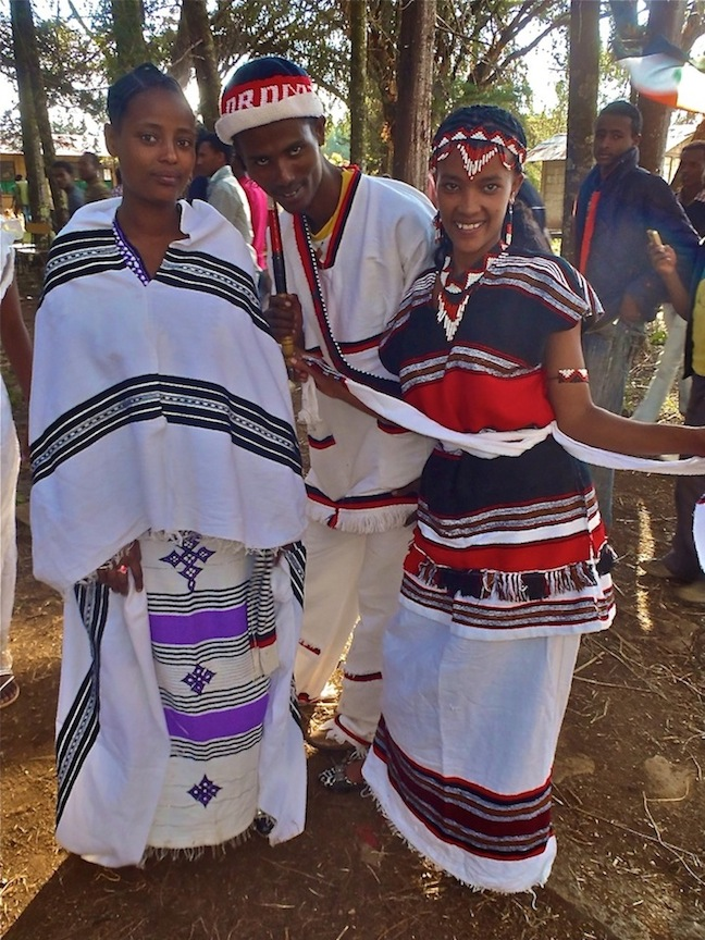 Students at my college wearing their traditional clothes for Nations, Nationalities and Peoples Day which celebrates the diversity of Ethiopia. Photo by Paul Voigt.