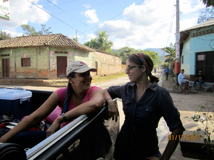 In my site with Nicaraguan friend Lya