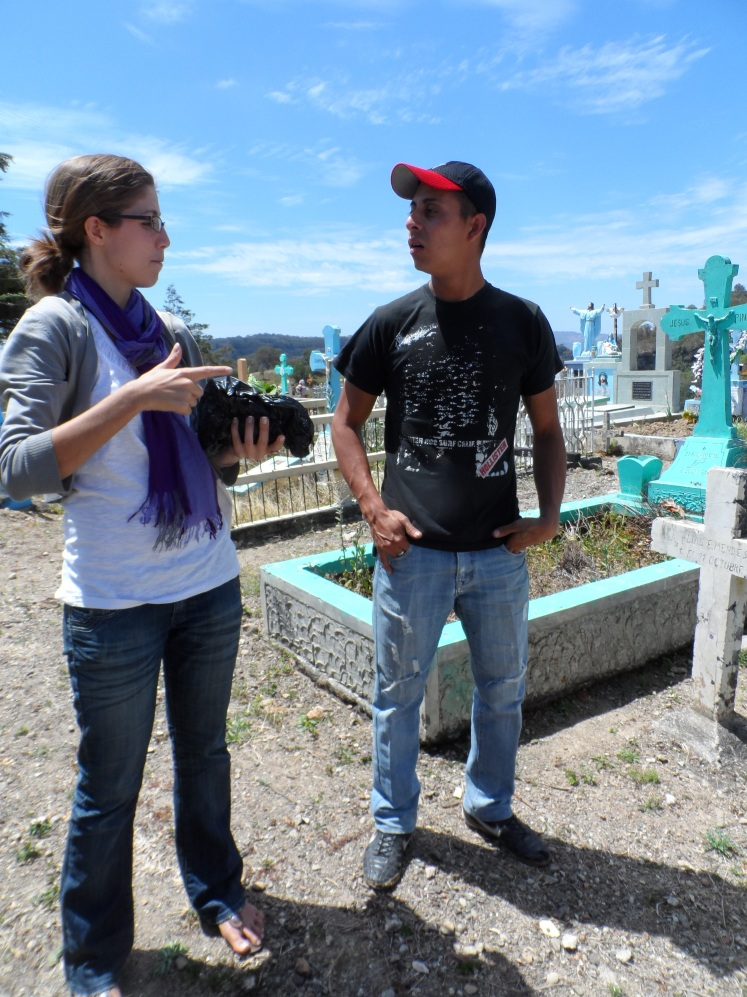 Working with a deaf youth for Manos Unidos