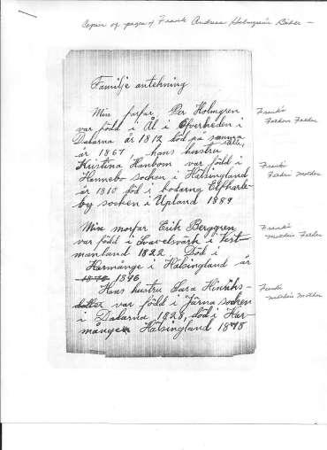 Holmgren bible page 1