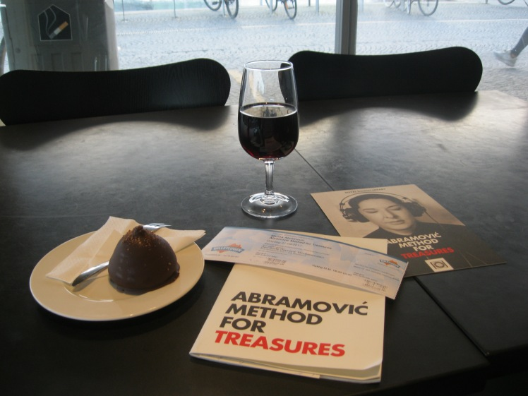 wine and chocolate before Abramovic Method for Treasures