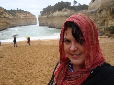 Charish Badzinski at the 12 apostles in australia