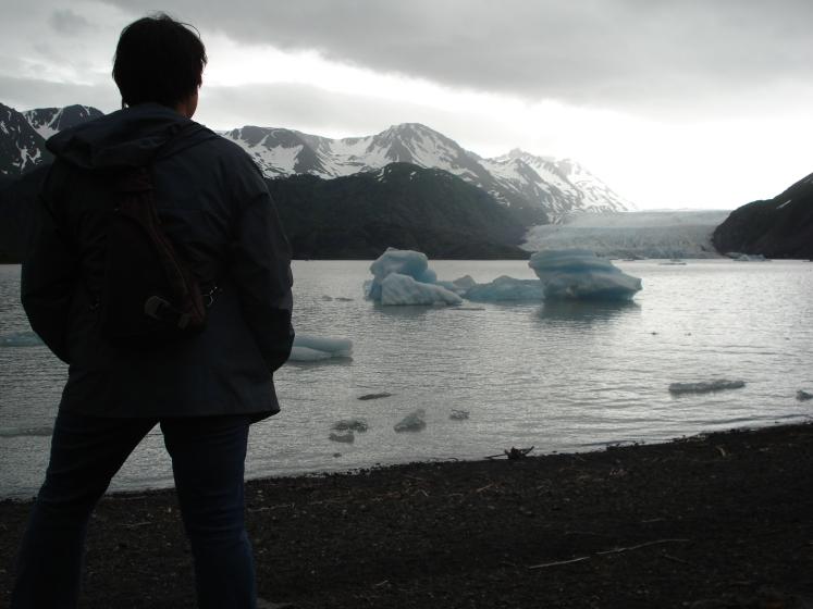 Charish at glacier