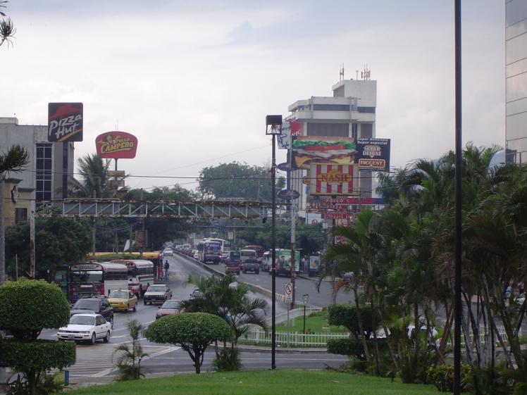 city area near savior of the world