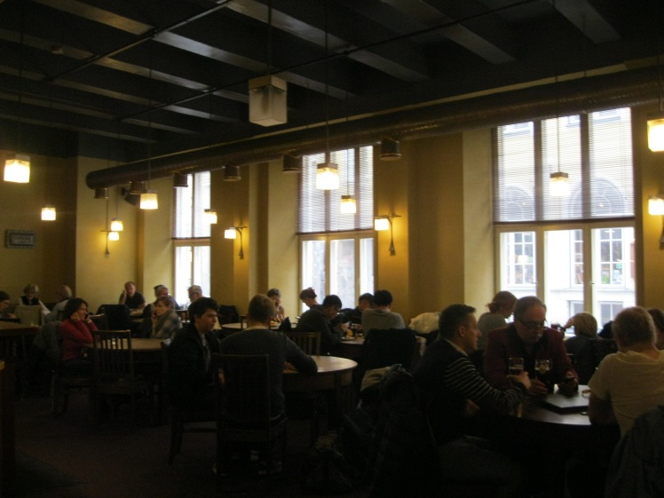 The interior of Kompressor in Tallinn, Estonia. Photo by Charish Badzinski.