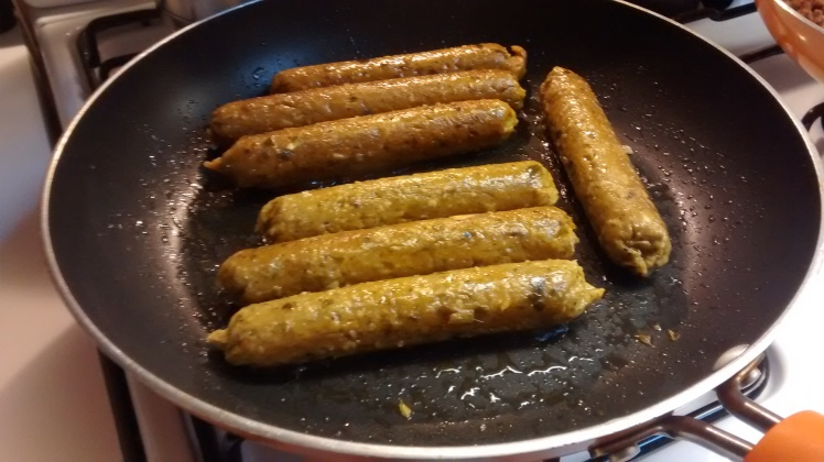 Vegan Sai Ua, or Chiang Mai sausages