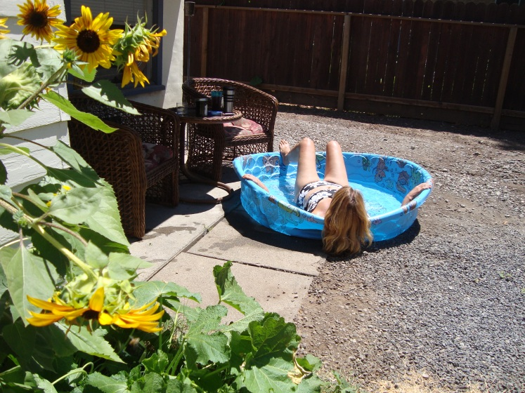 kelly in the kiddie pool
