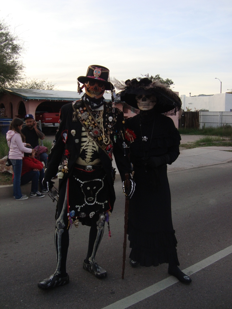 All Souls Procession participants in costume