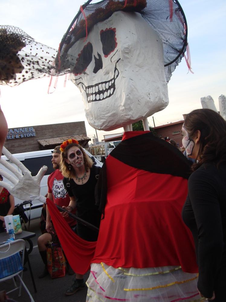 Giant paper mache skull