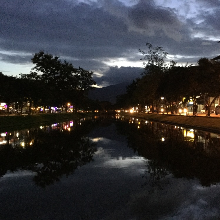 Canal in Chiang Mai, Thailand