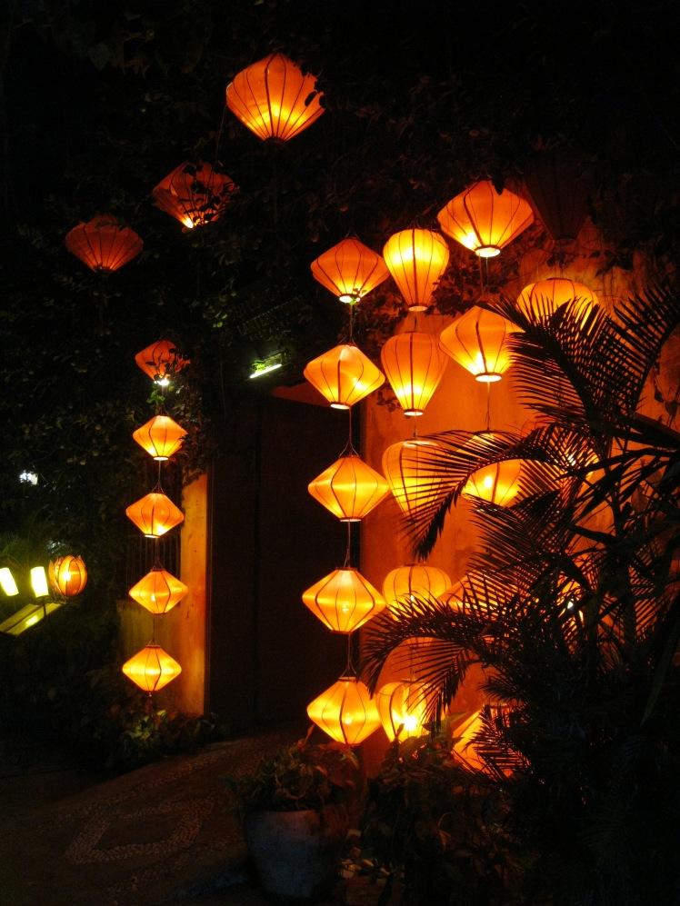 Lanterns light up the city of Hoi An by night. Photo by Charish Badzinski.