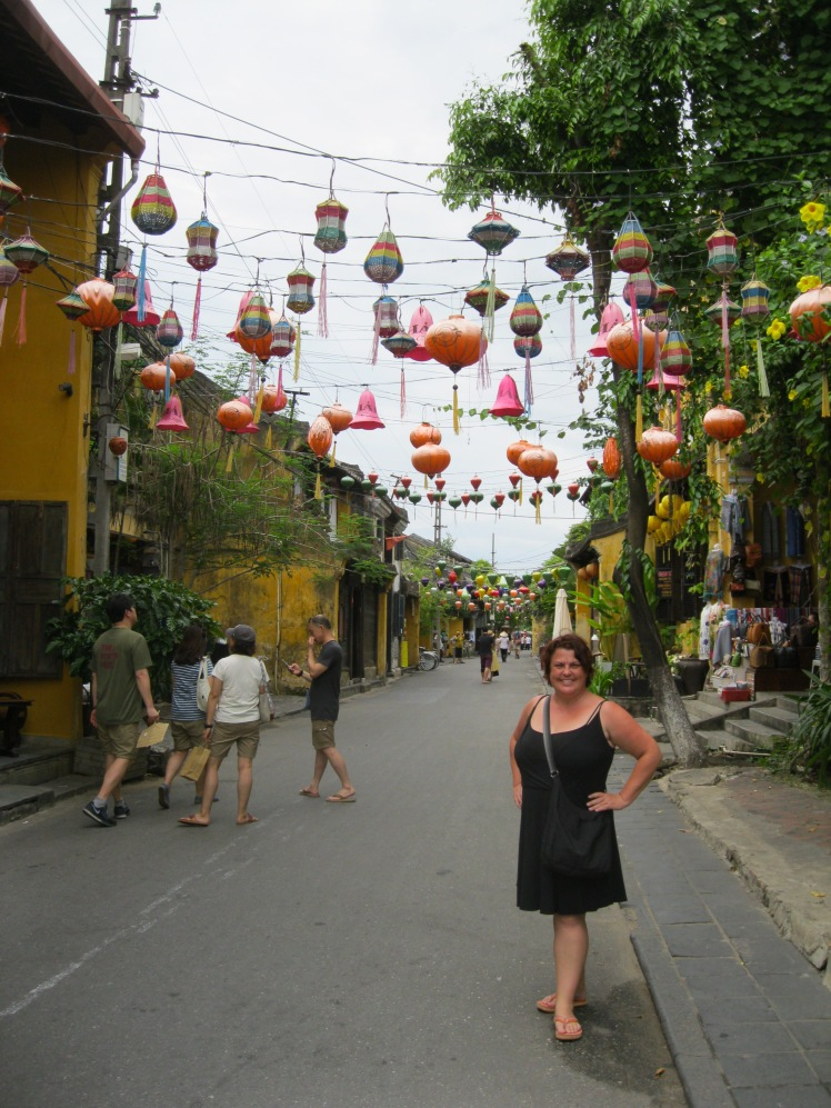 Lantern-draped streets create a magical setting in the old town section of Hoi An, Vietnam.