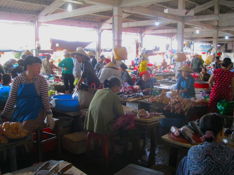 fresh meat and fish at the central market