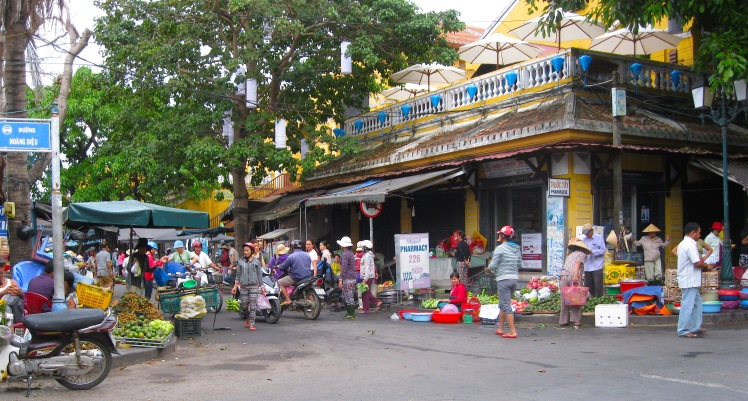 The entrance to Hoi An's Central Market. Photo by Charish Badzinski.