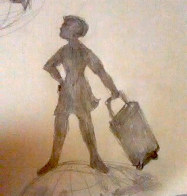Rollerbag Goddess Logo Sketch