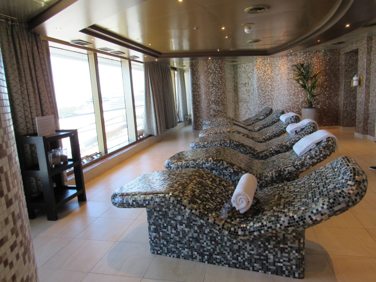 warming lounges in the spa