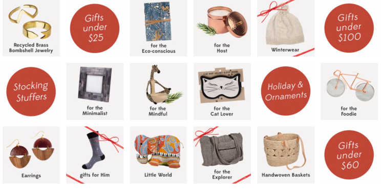 Ten Thousand Villages offers a variety of gifts that are eco-friendly, fair trade, and ethical